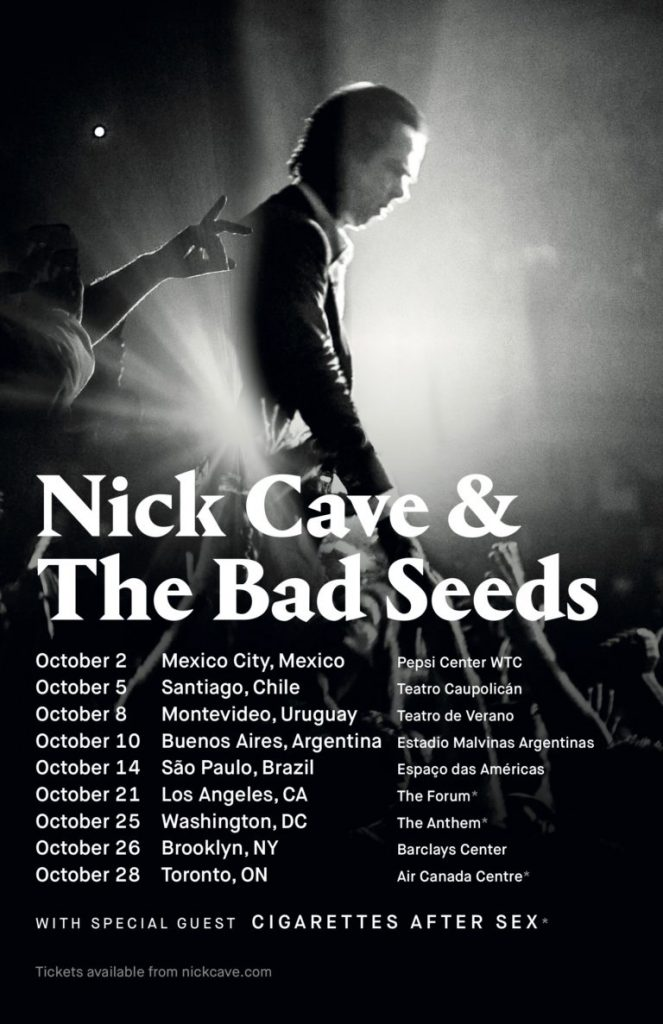 Nick Cave & The Bad Seeds North & Latin American Tour 2018
