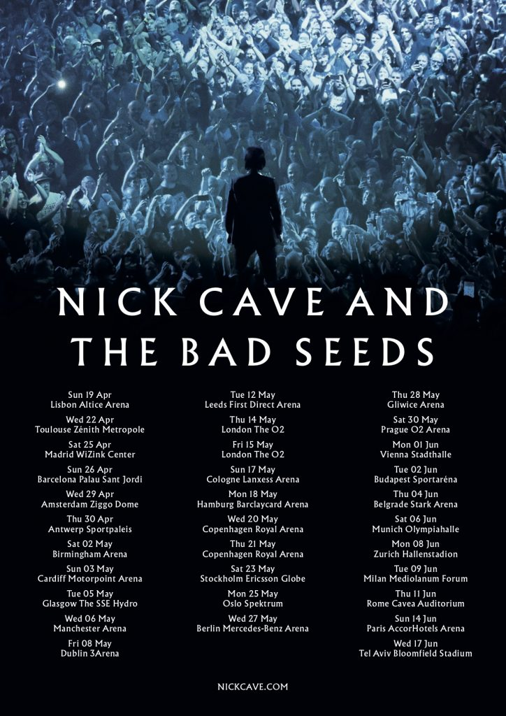 Nick Cave and The Bad Seeds European and UK Tour 2020