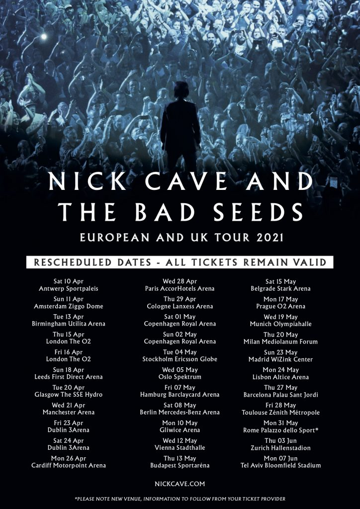 European and UK Tour Rescheduled 2021