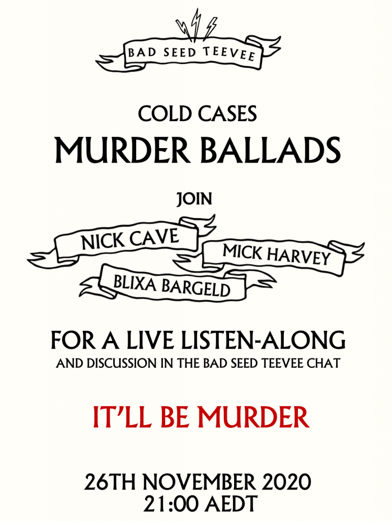 Cold Cases II – Murder Ballads