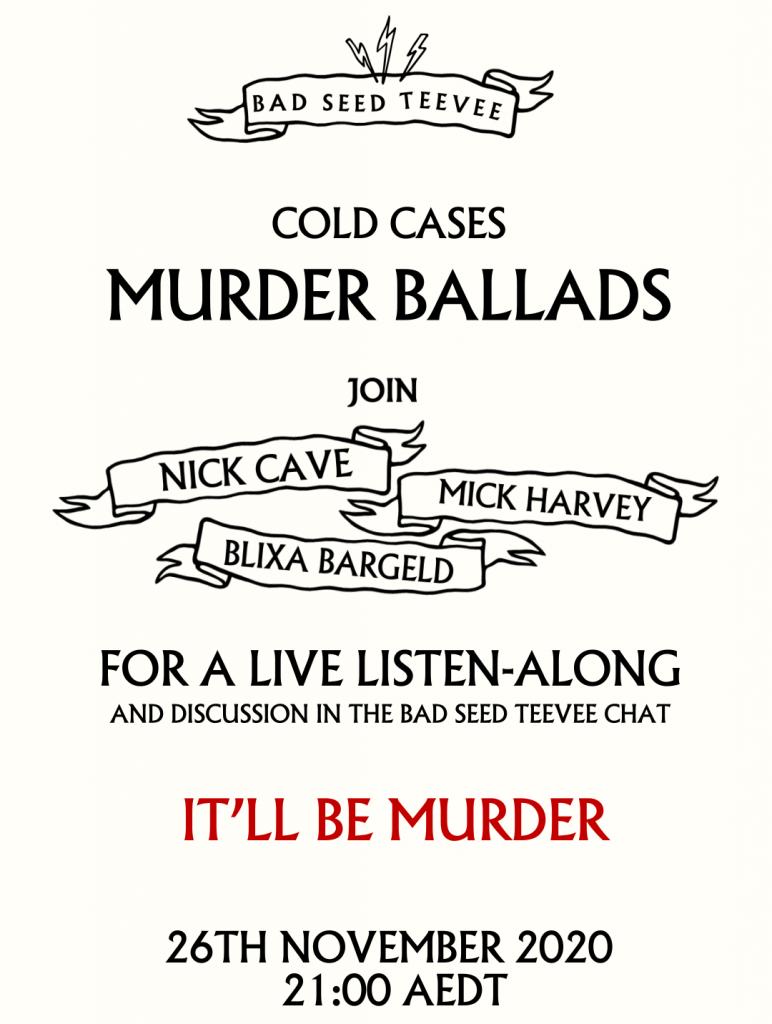 Cold Cases II – Murder Ballads